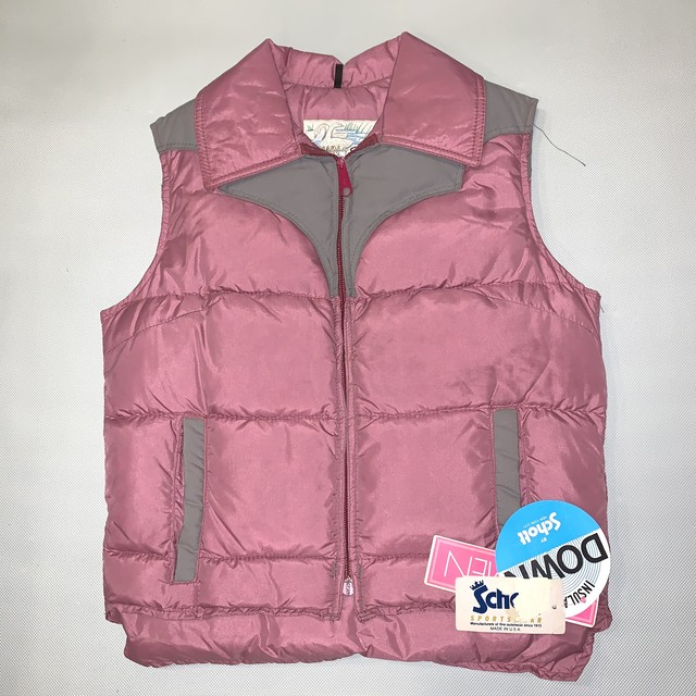 Schott Womans Down Vest ショット ダウンベスト  80's Dead stock