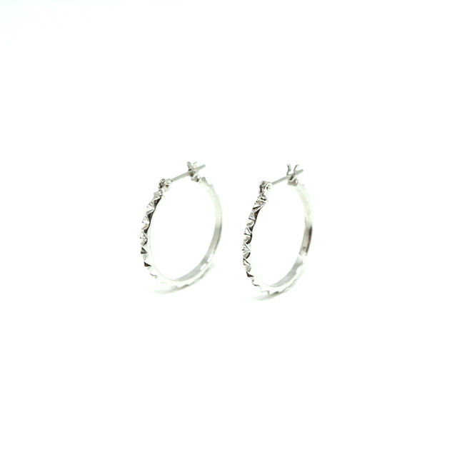Triangle stud hoop pierce - K10