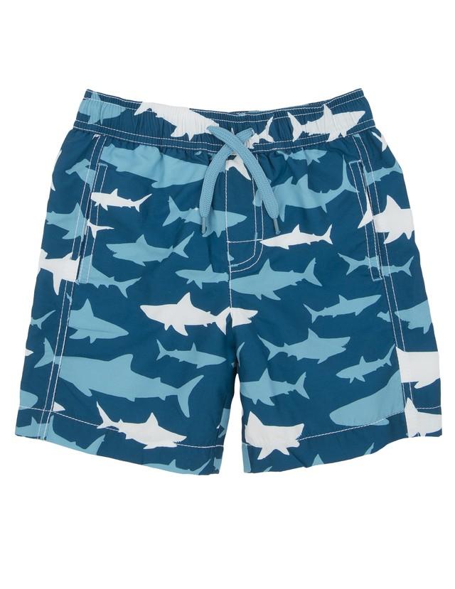 SALE Hatley サメ大群 Boy's水着(SPF50)  Toothy sharks SwimTrunks