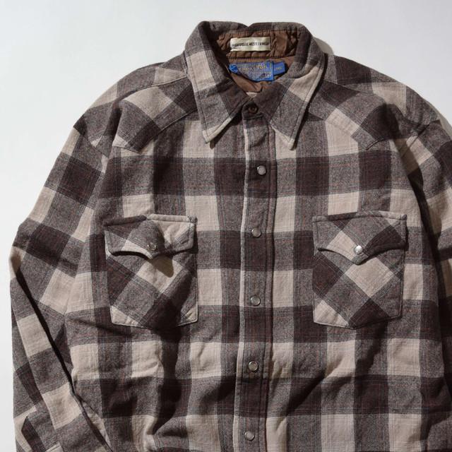 【Lサイズ】PENDLETON ペンドルトン WESTERN CHECK SHIRTS 長袖シャツ BROWN ブラウン 400602190866