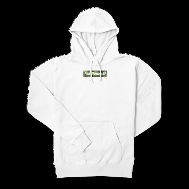 MarijuanaJPオリジナルロゴデザイン【パーカー】(Box logo Leaf5色)