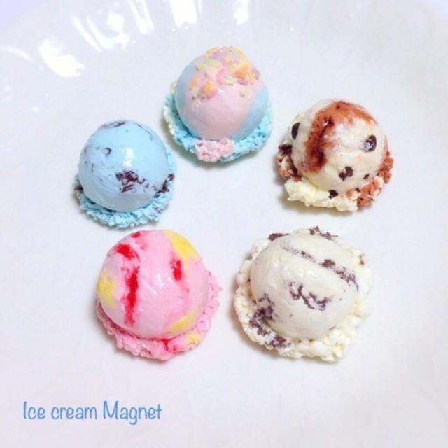 アイスクリームマグネット5種セット