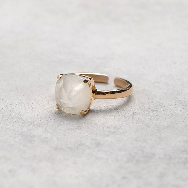 SINGLE STONE ADJUSTABLE RING 014