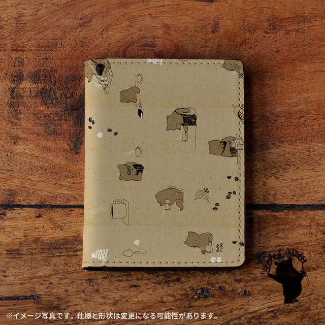 パスケース かわいい カードケース かわいい 名刺入れ かわいい おしゃれ くま クマ クマカフェの一日/Bitte Mitte!