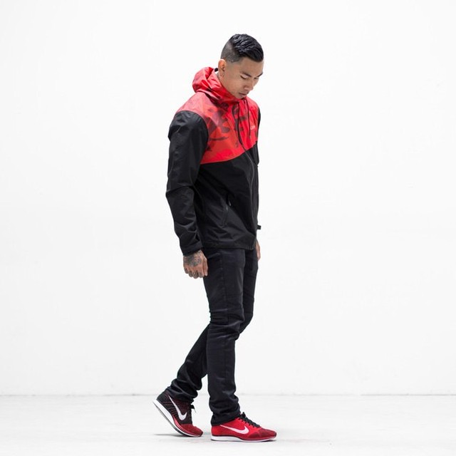 LIVE FIT Recon Tech Jacket - Red Camo HF1801