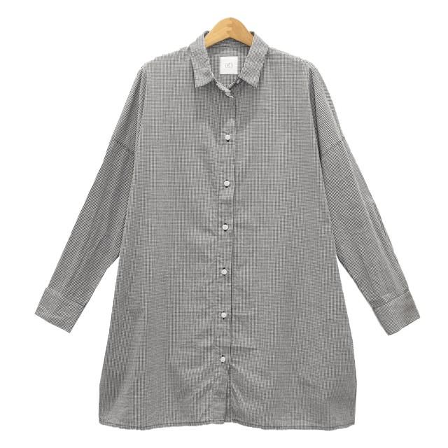 gグラム/g-201チェックロングシャツ