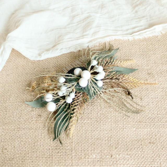 """【ご予約品】Hair ornament & Hair parts for """"Brown Bouquet """""""