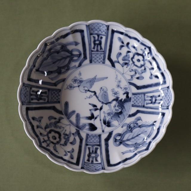 芙蓉手(ふようで) インコ画リンカ7寸皿