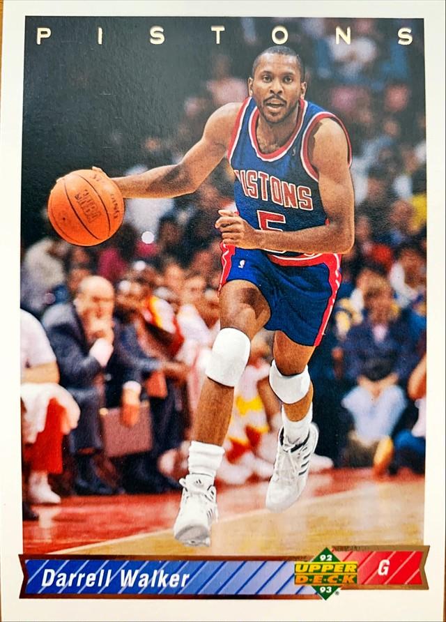NBAカード 92-93UPPERDECK Darrell Walker #227 PISTONS