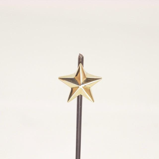 *鈴木荘* Endcap_Brass / 星のエンドキャップ_真鍮