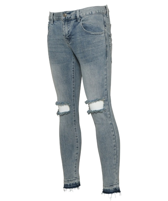 VINTAGE CRUSH SKINNY DENIM PANTS[REP118]