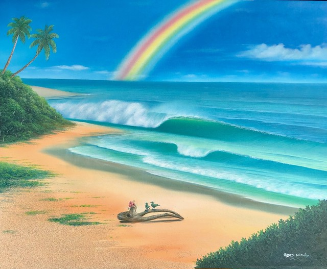 color change rainbow in Dreamland Wave Art F15 With Real Sand