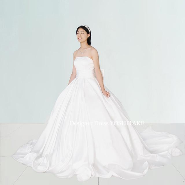 ウエディングドレス(パニエ無料)挙式ドレス/ブライダル挙式/1.5次会/フォト婚