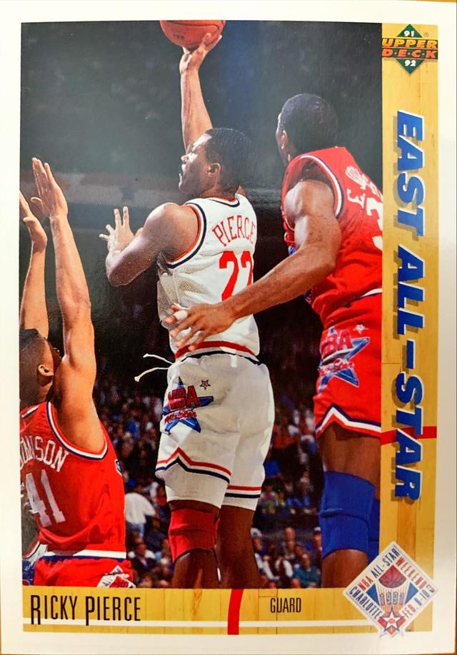 NBAカード 91-92UPPERDECK Ricky Pierce #67 EAST ALL-STAR