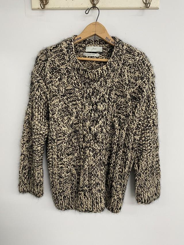 amachi. / Silk Aran Knit (Ivory×Charcoal)