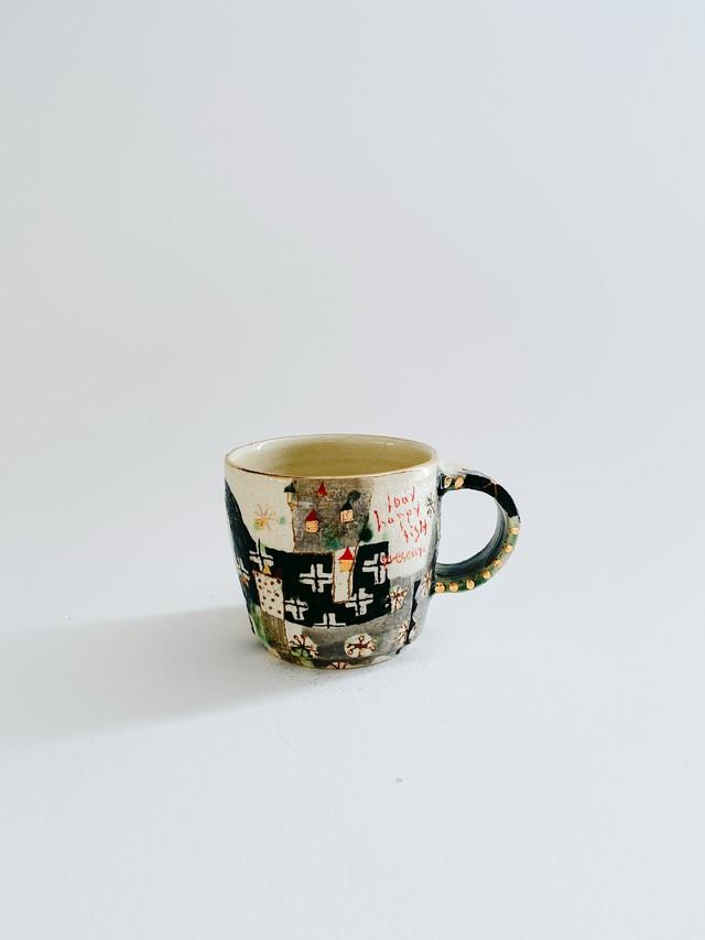 ウエダキヨアキ 白土金彩マグカップ 28
