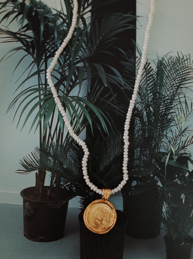 【 HERMINA ATHENS 】HERCULES PEARL NECKLACE