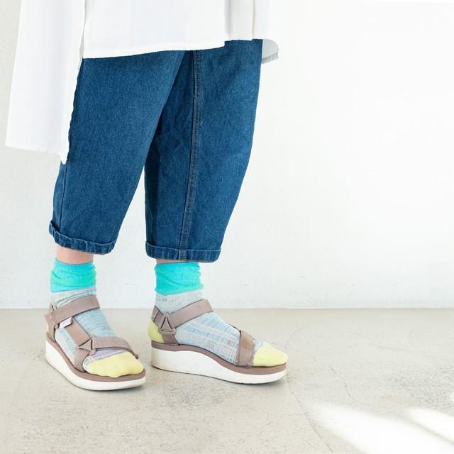 【COQ textile】6時~18時・ソックス(ブルー)