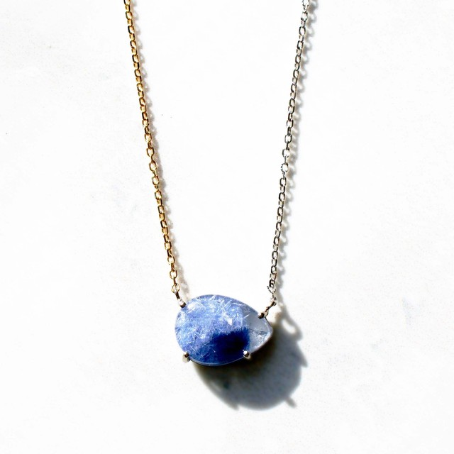 Dumortierite in Quartz Necklace