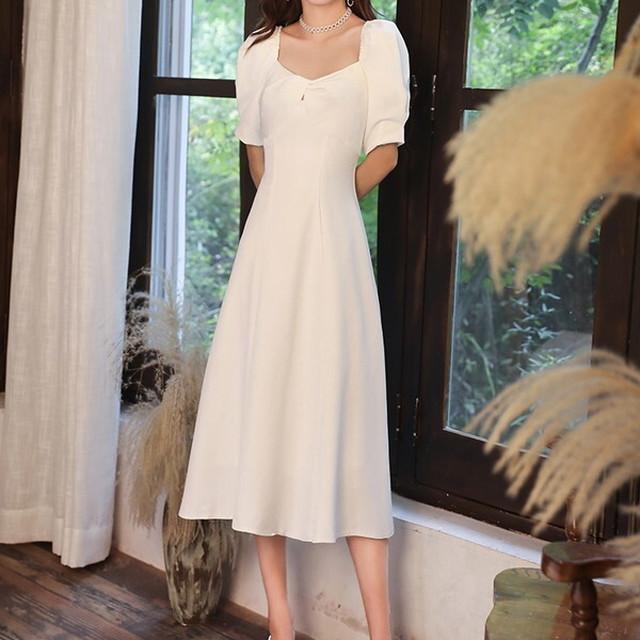 大きいサイズ レディース 新作 2021 ワンピースドレス ドレス 結婚式 二次会 ワンピース パーティードレス 演奏会 ドレス ハイウエスト フレア パフスリーブ 半袖 オフショル 2way お呼ばれ ミモレ丈 ドレス パーティードレス 大きいサイズ 結婚式 体型カバー ホワイト 白 P7533