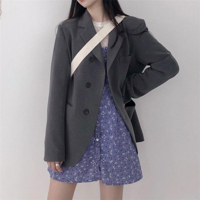 【outer】カジュアル折り襟流行のデザインスーツ