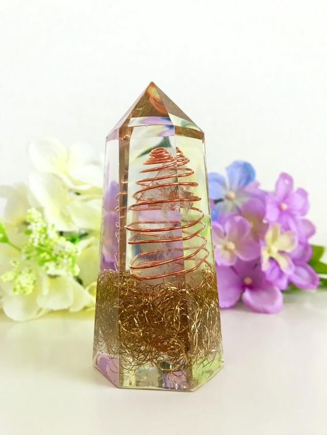 水晶ポイント型オルゴナイト《Sサイズ・9.5cm》