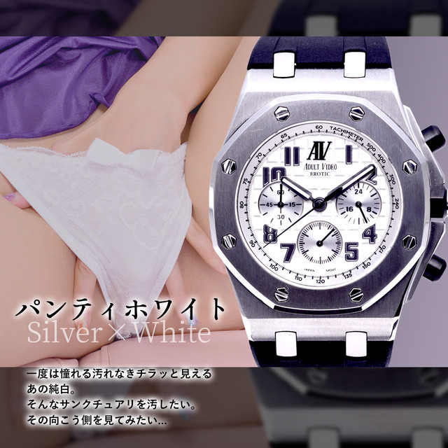 ADULT VIDEO EROTIC アダルトビデオ エロティック 日本製 ムーブメント VK63搭載 金時計 銀時計 オマージュ メンズ 腕時計
