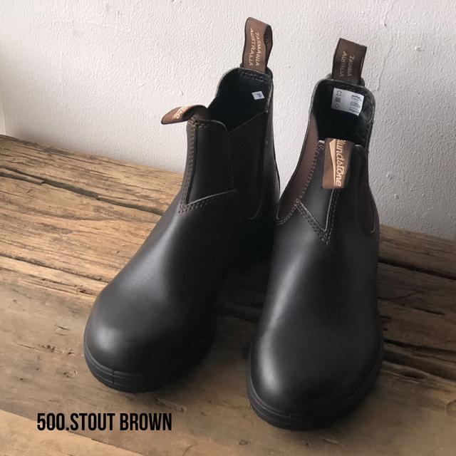 BLUNDSTONE サイドゴアブーツ500 Stout Brown(茶色) クラシックモデル