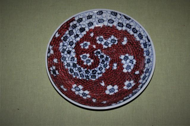ともしび桜5寸皿