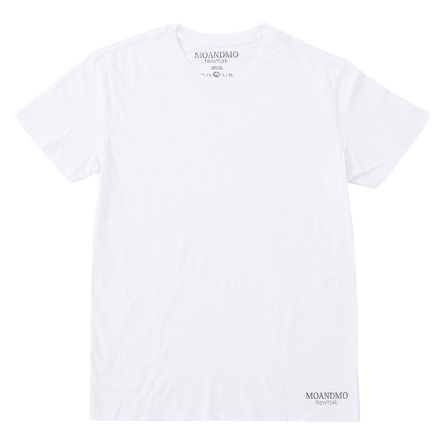 MOANDMO Damaged Plain Tee / White