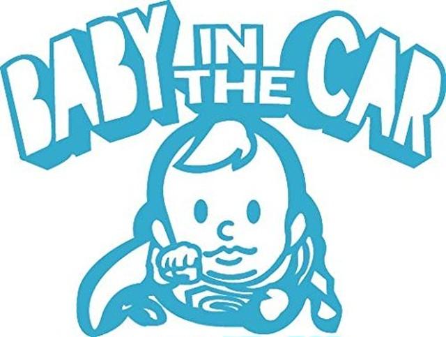引続きセール主力商品20%OFF!  【カッティングシート】Baby in the Car Super Boy  -赤ちゃんが車に乗ってます- スカイブルー【Super Boy】