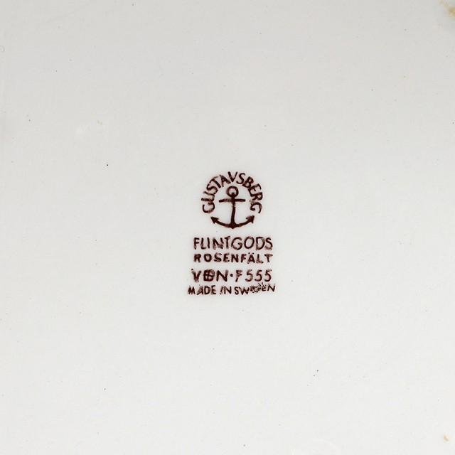 Gustavsberg グスタフスベリ Rosenfalt ローゼンフォルト 175mmボウル 木蓋付 北欧ヴィンテージ