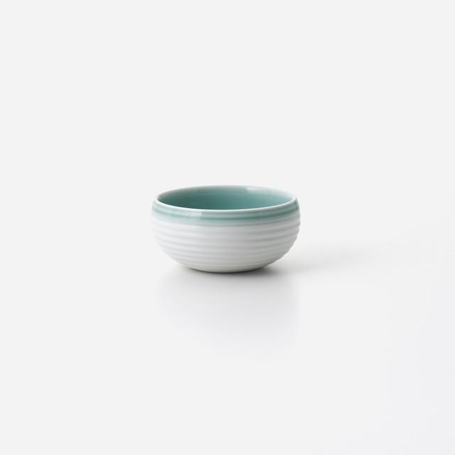 青磁白彩 丸豆小鉢