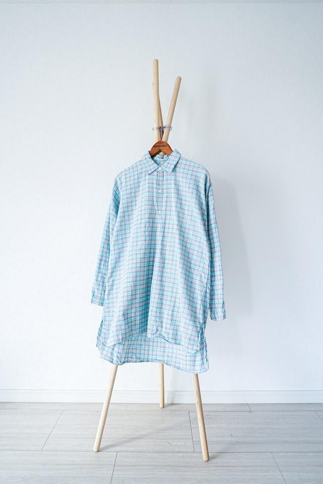 "【1950-60s】""French Made"" Euro Vintage Grandpa Shirts / v362"
