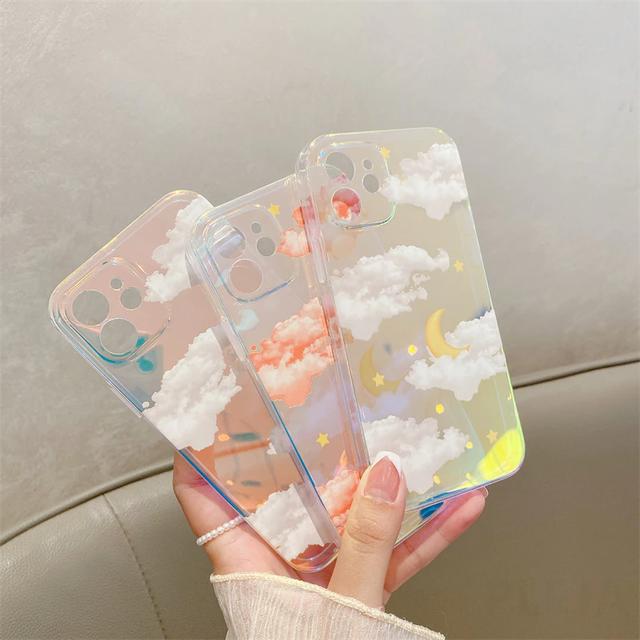 laser colorful sky iphone case(3design)