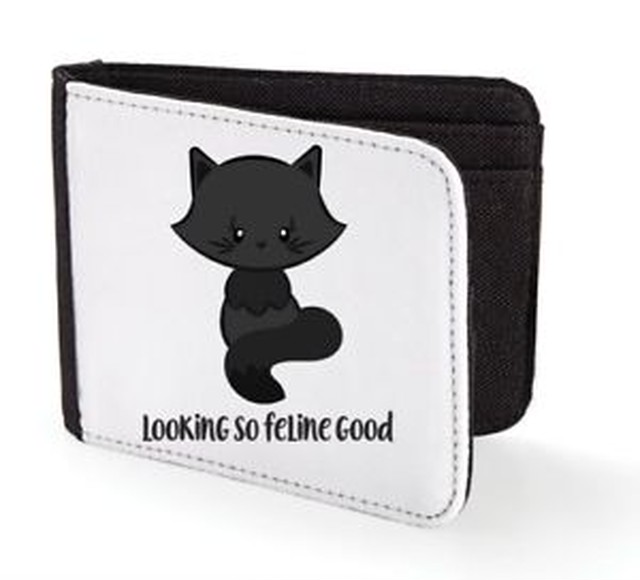 【送料無料】ネコ#cat 2 looking so feline good cute statement men039;s wallet
