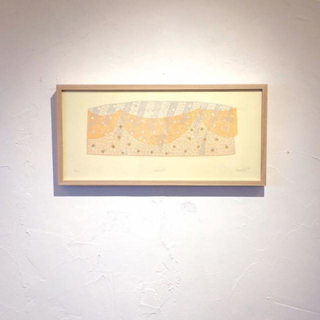竹崎勝代「アーケード」TAKEZAKI Katsuyo/woodcut print 'arcade'