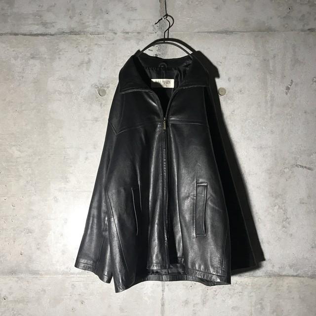 [shama] cow leather jacket