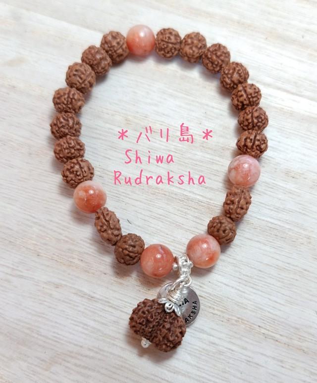 【4&6面】レインボームーンストーンブレス★ゴールド