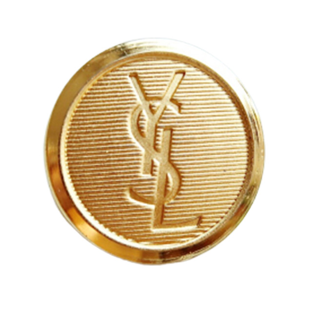 【VINTAGE SAINTLAURENT BUTTON】ゴールド ロゴ ボタン 22mm Y-19016