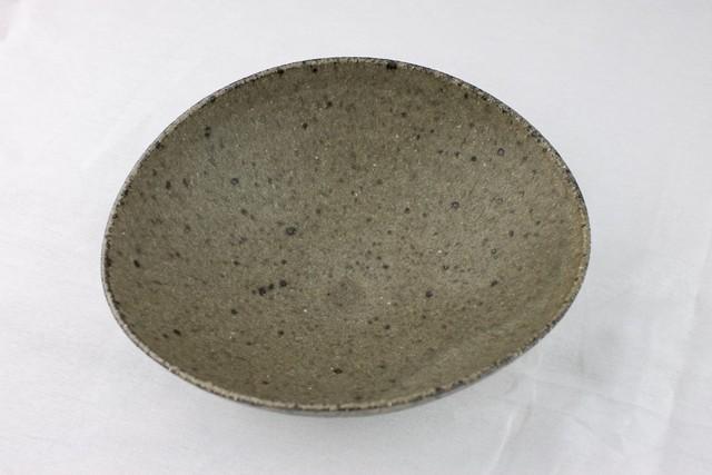 小林徹也 楕円鉢 灰