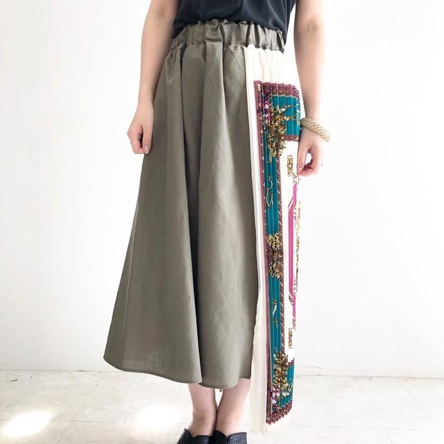 【 CYNICAL 】スカーフプリーツプリントスカート