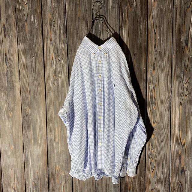 [Ralph Lauren]over size light blue check shirt.