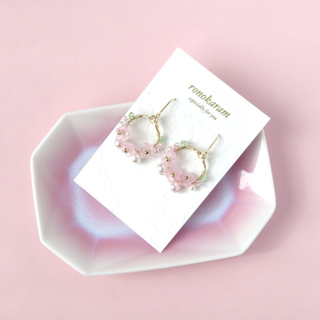 桜フープピアス