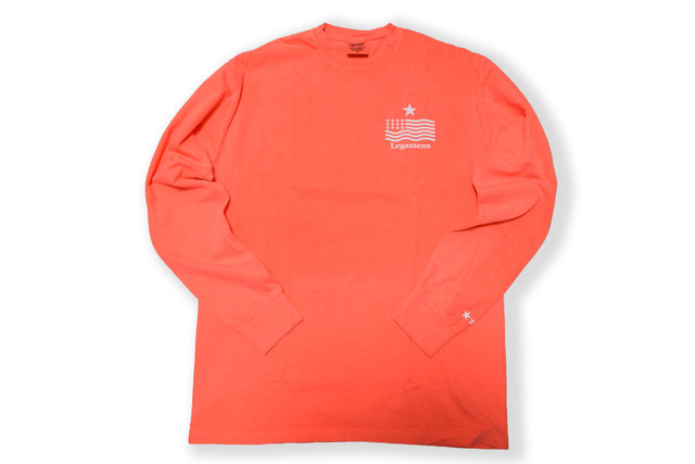 "即日発送【""USA"" vintage long sleeve】/ neon red"