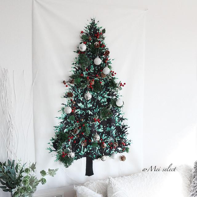 【100cm×150cm】壁掛けクリスマスツリー タペストリー モミの木 ホームパーティー デコレーション クリスマスインテリア オーナメント クリスマスの飾り
