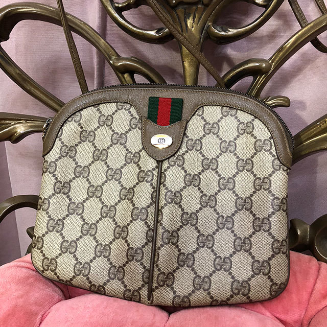 info for 51b27 68ca2 オールドGUCCI GGパターン&シェリーライン ショルダーバッグ /1800135   number12 powered by BASE