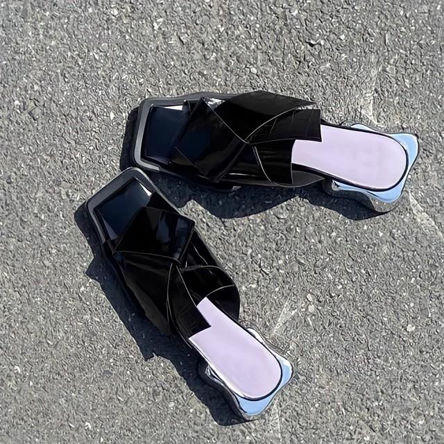 mirror heel sandals