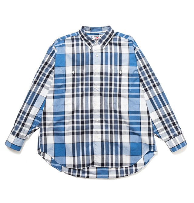 【SON OF THE CHEESE】Big Check Shirt(BLUE)