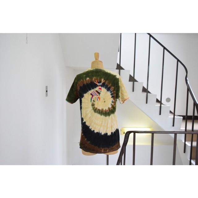 OAXACA1604-0005SierraNorte Camoハンド刺繍Tシャツ